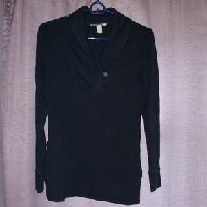 Long sleeve fitted cardigan style sweatshirt